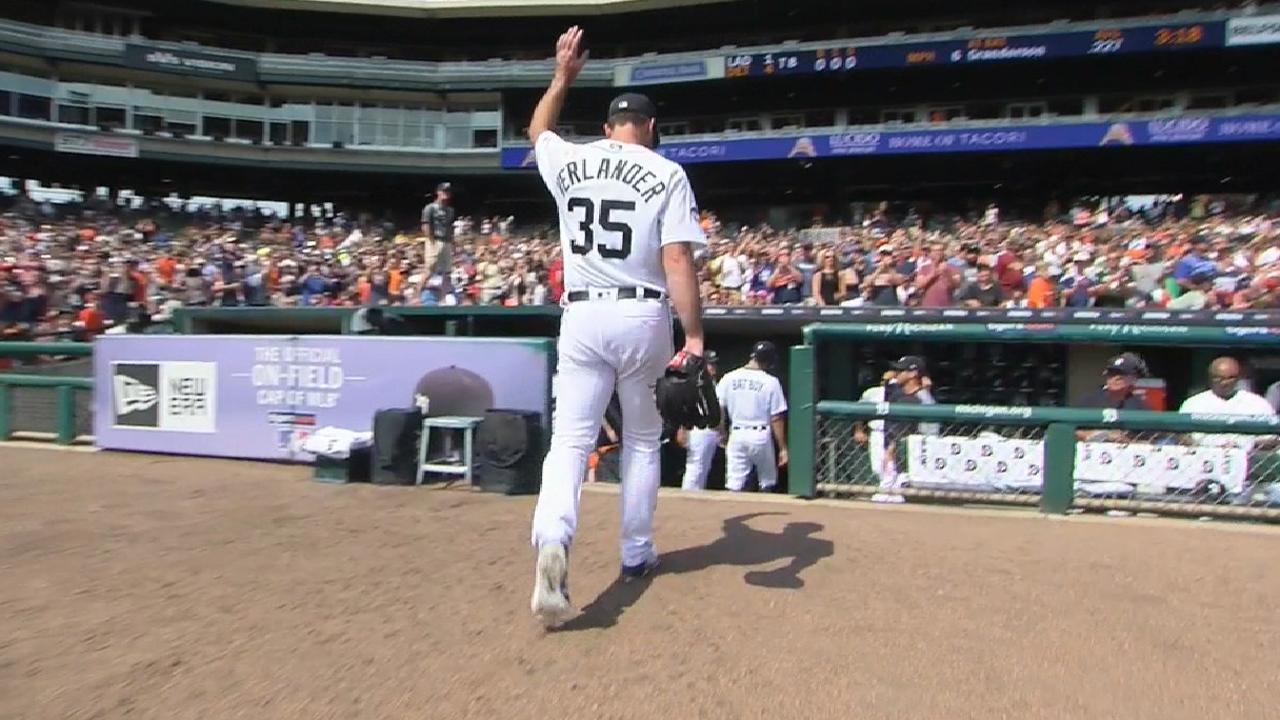 Verlander spins gem as Tigers cool off Dodgers