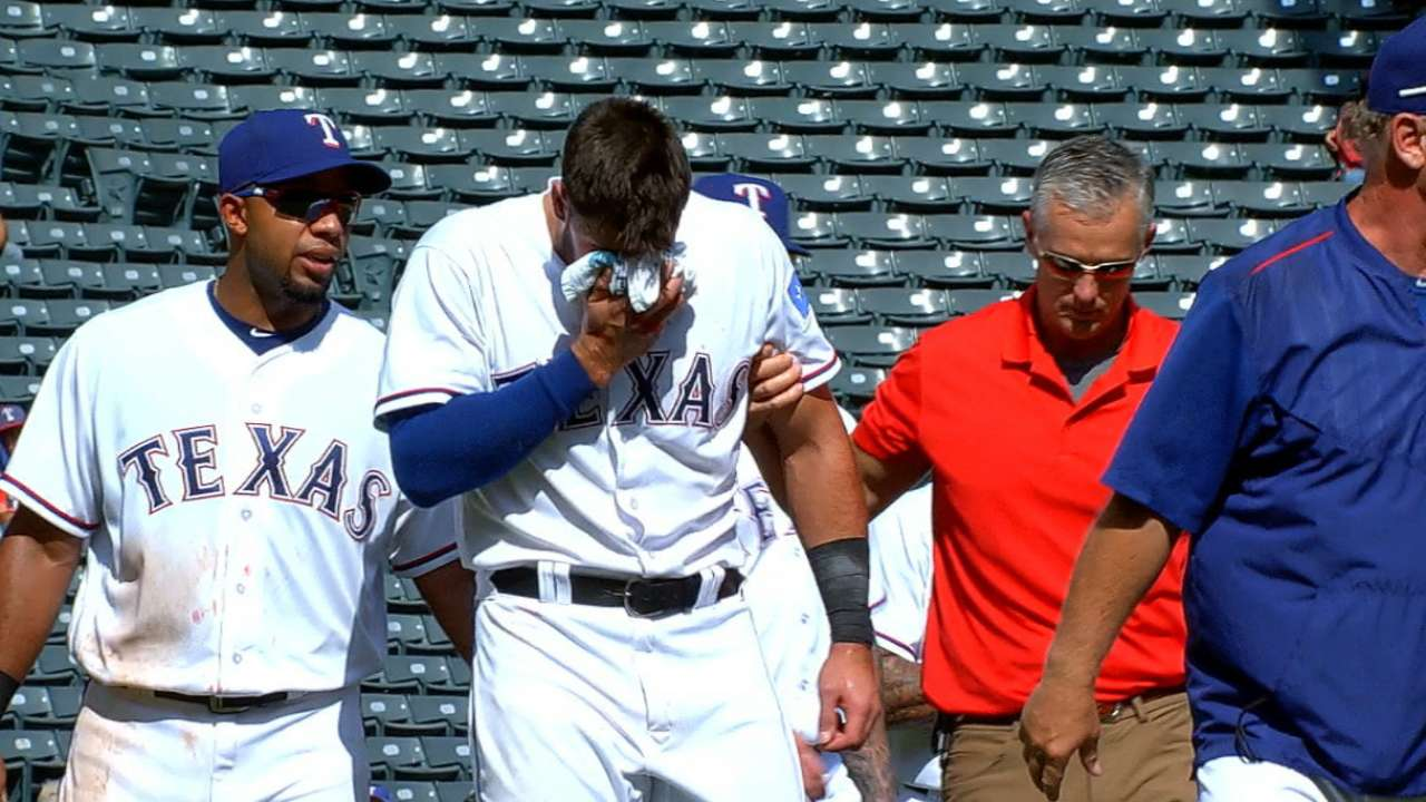 Rangers place Gallo on 7-day concussion DL
