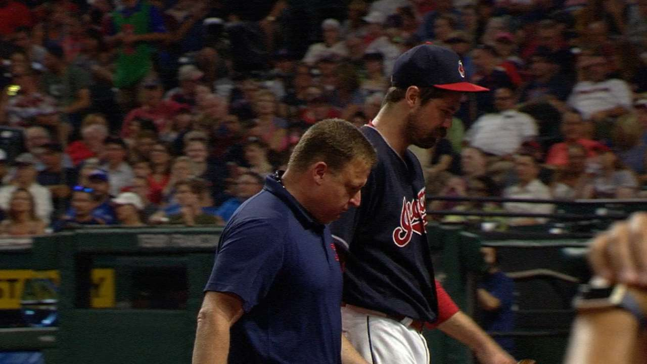 Miller exits with knee injury