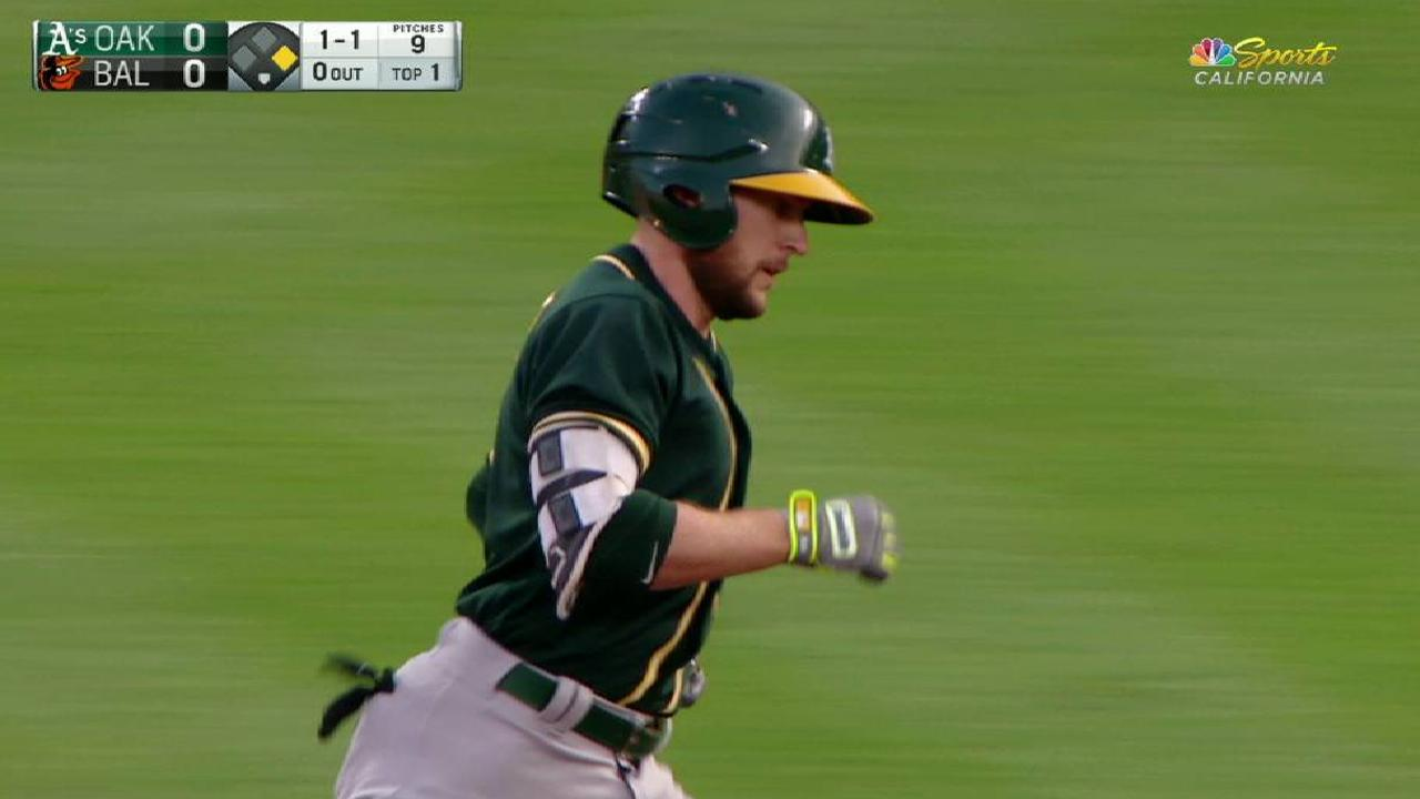 Lowrie's two-run home run