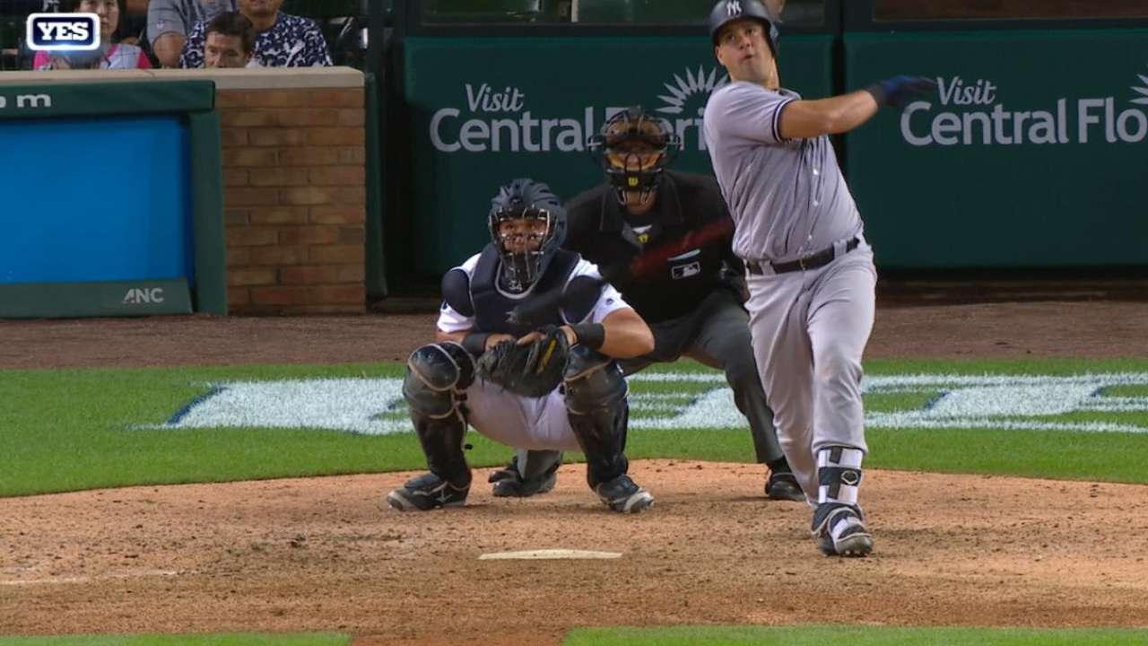 Con par de jonrones de Sánchez, Yankees apalearon a Tigres