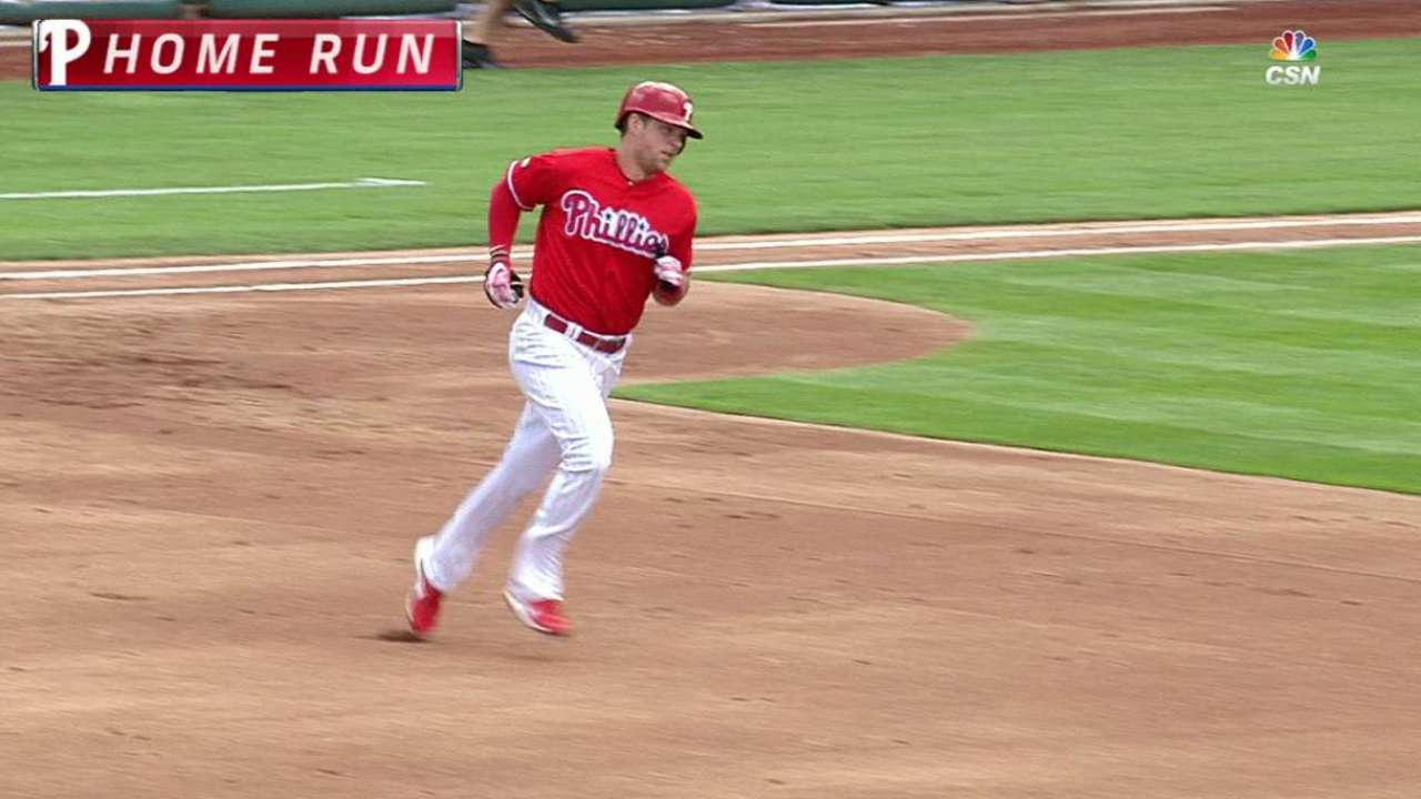 Hoskins' 8th homer puts him in elite company