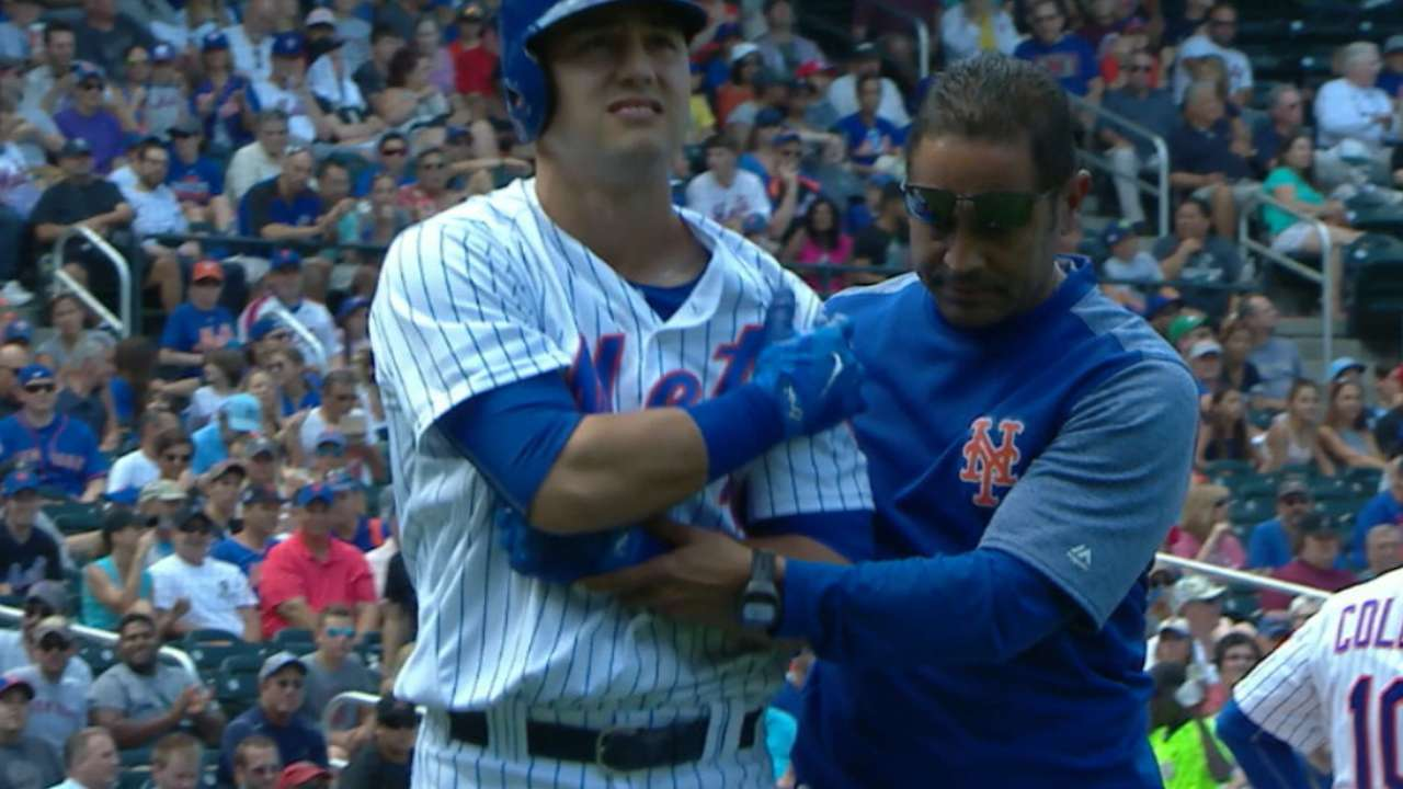 Conforto exits game with injury