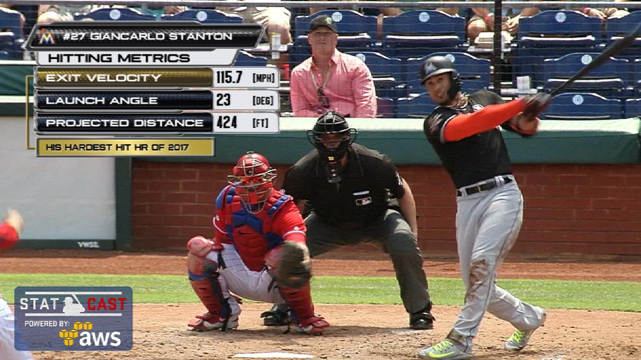 Statcast: Stanton's solo homer