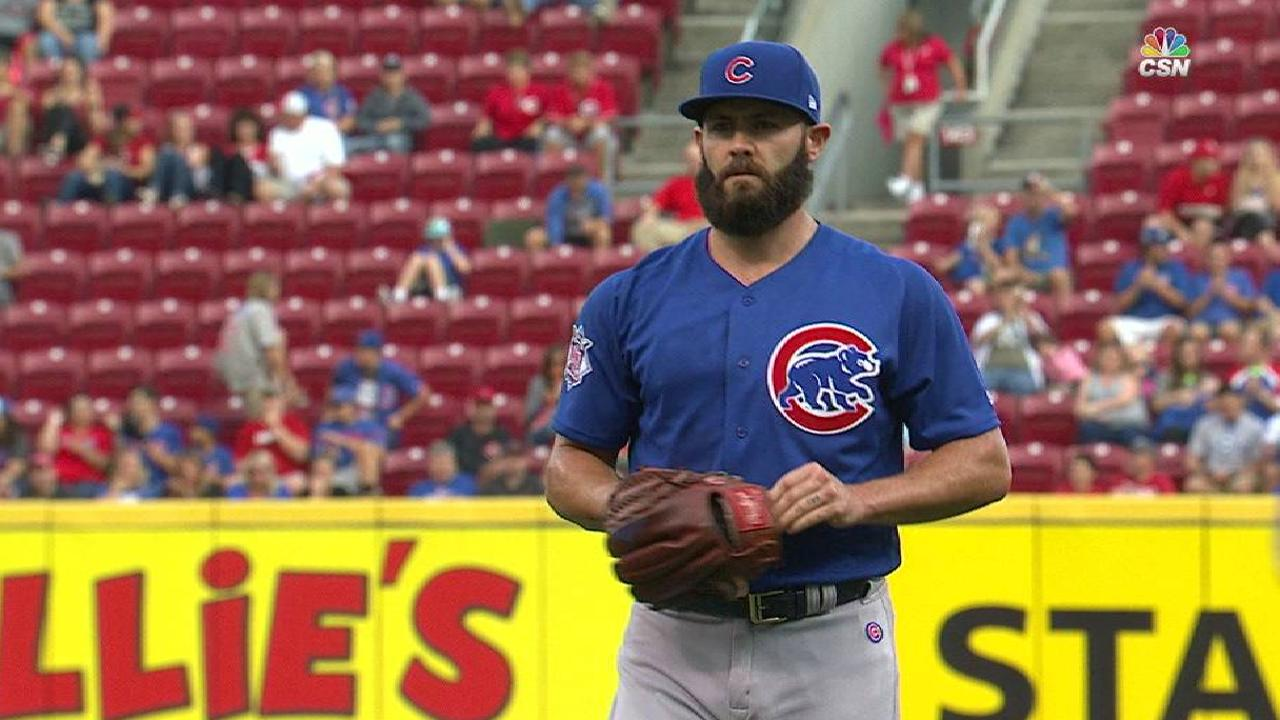 Arrieta strikes out the side