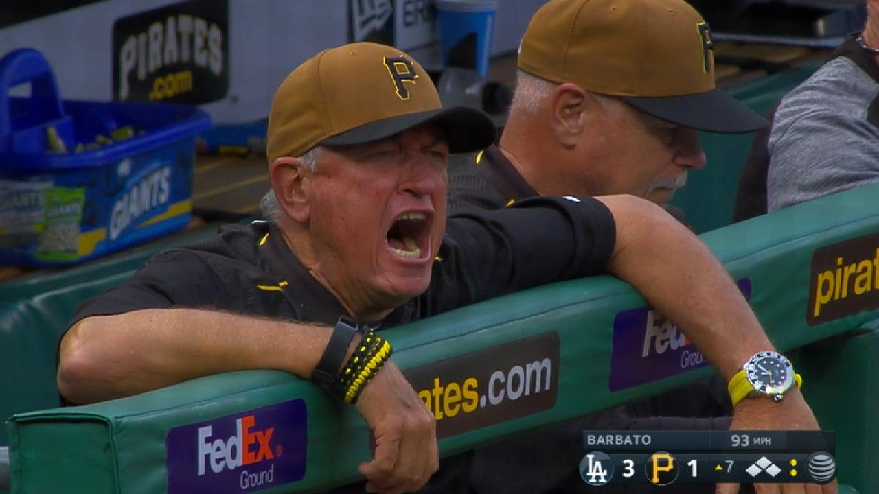 Hurdle ejected in the 7th