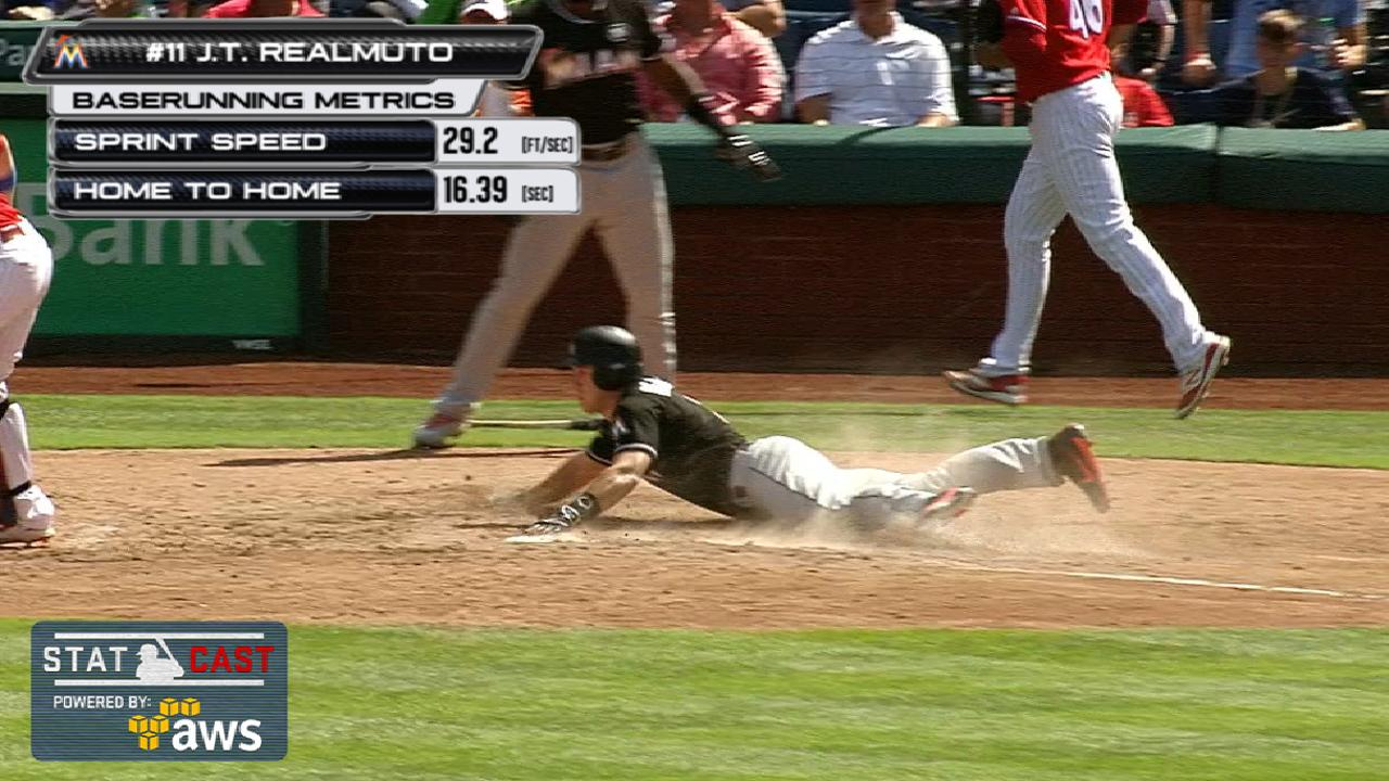 Statcast: Realmuto motors home