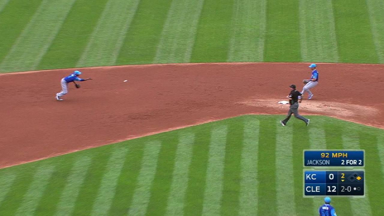 Garcia induces a double play