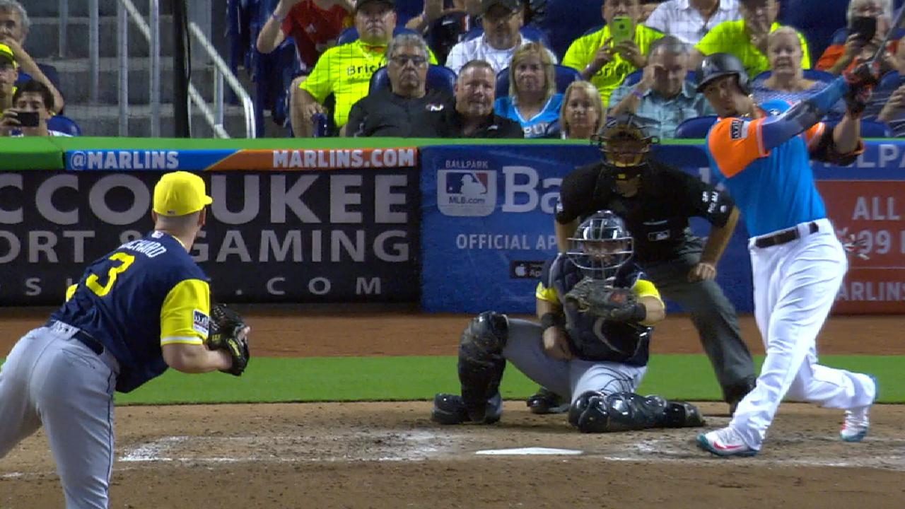 Stanton pega el HR 50 y Marlins barren serie vs. Padres