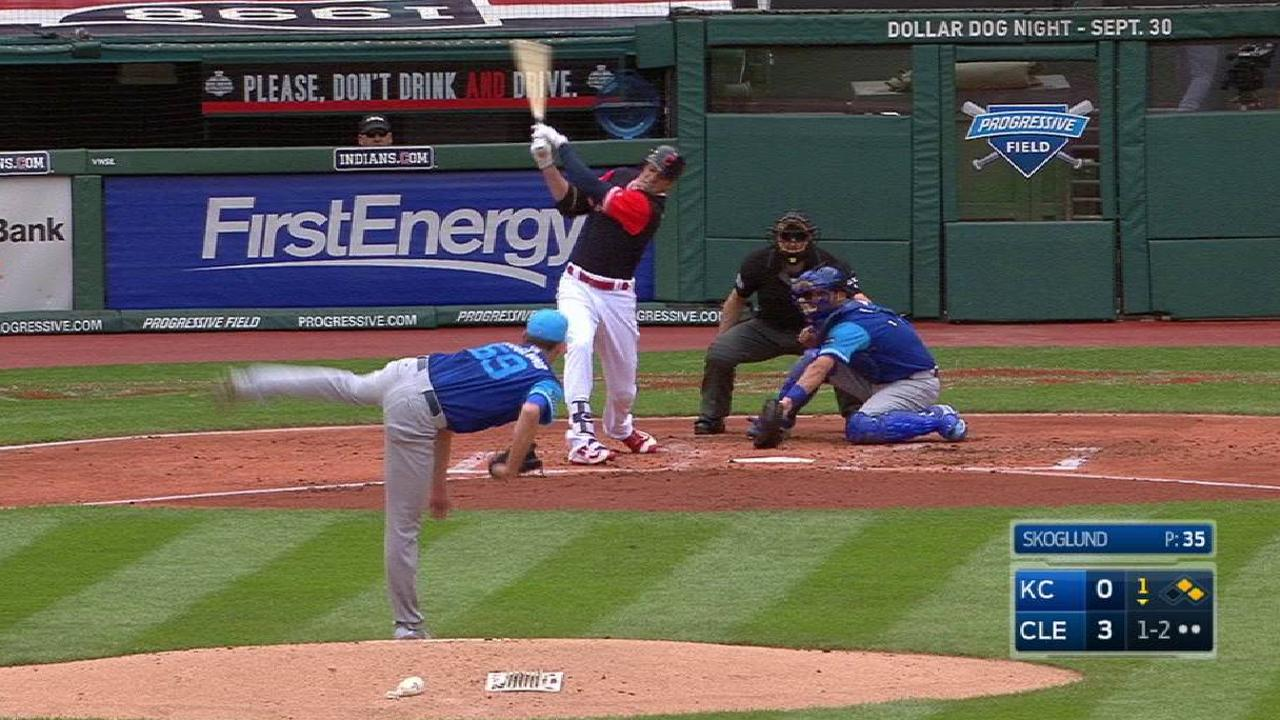 Royals no match for Tribe's bats