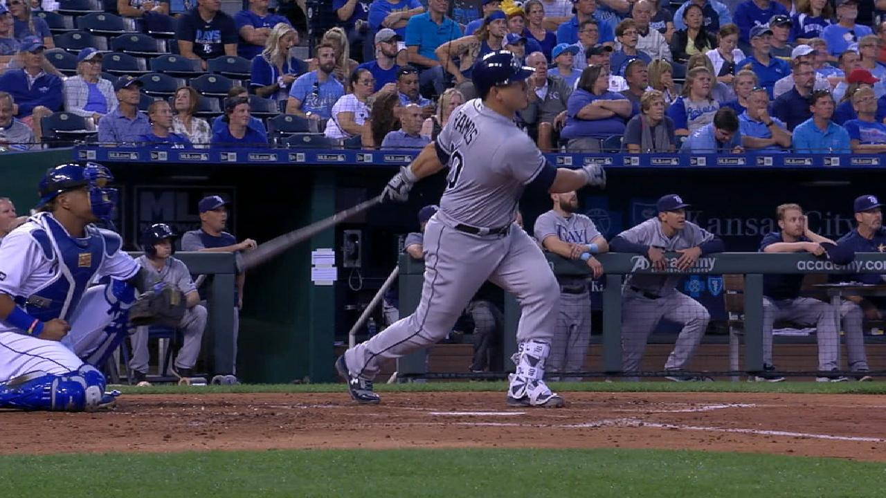 Rays ride 6-run 3rd to pass KC in WC chase