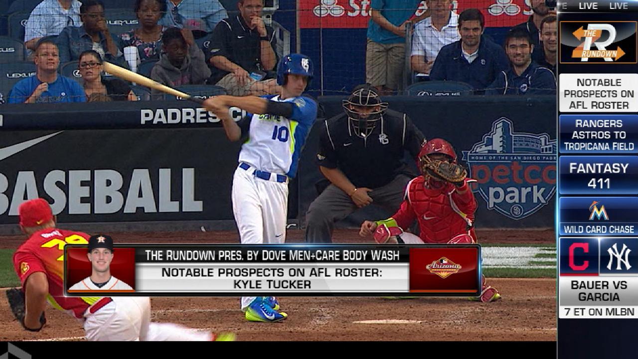 Tucker, Whitley Astros' top Minor Leaguers