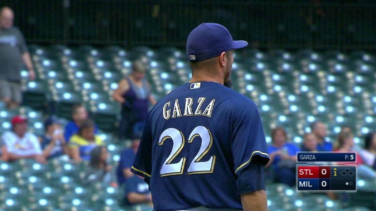Garza strikes out Carpenter