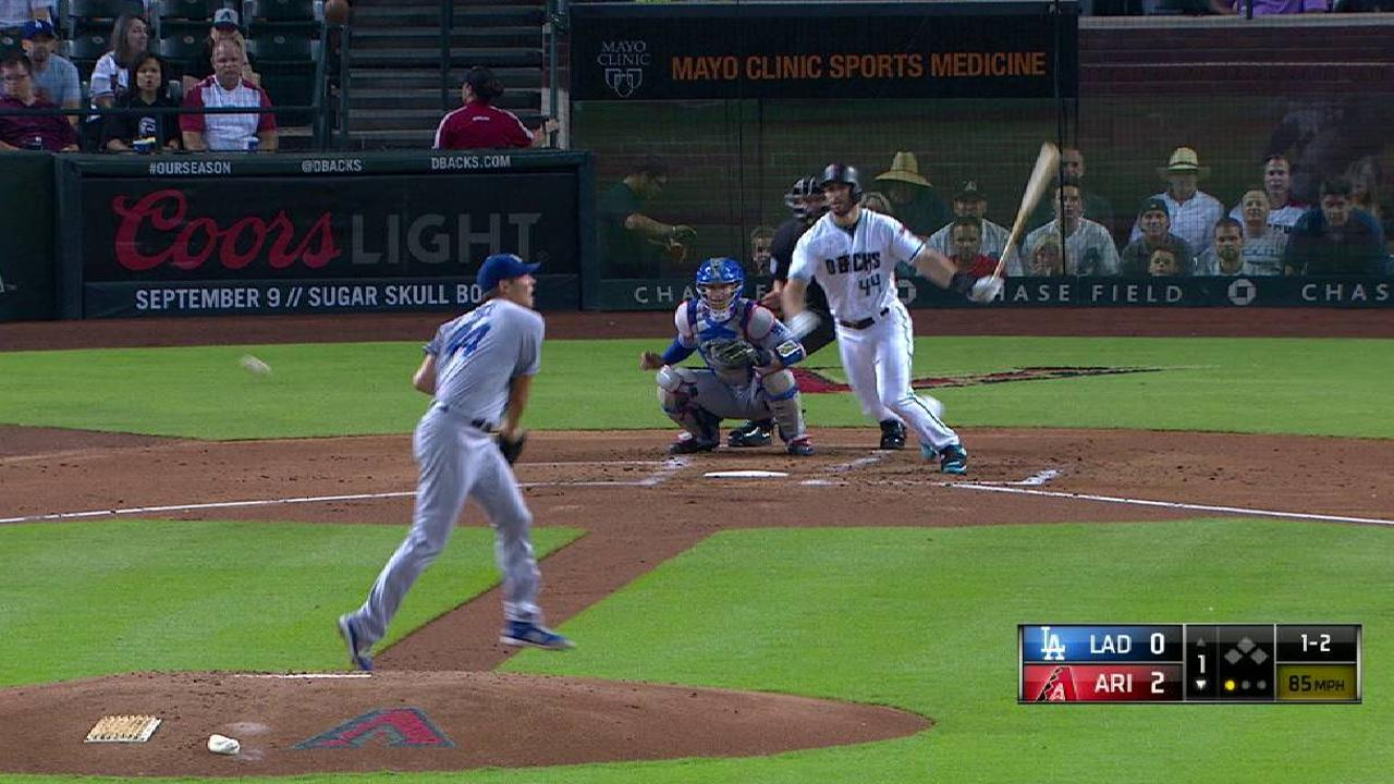 Dodgers can't quite pick up Hill vs. D-backs