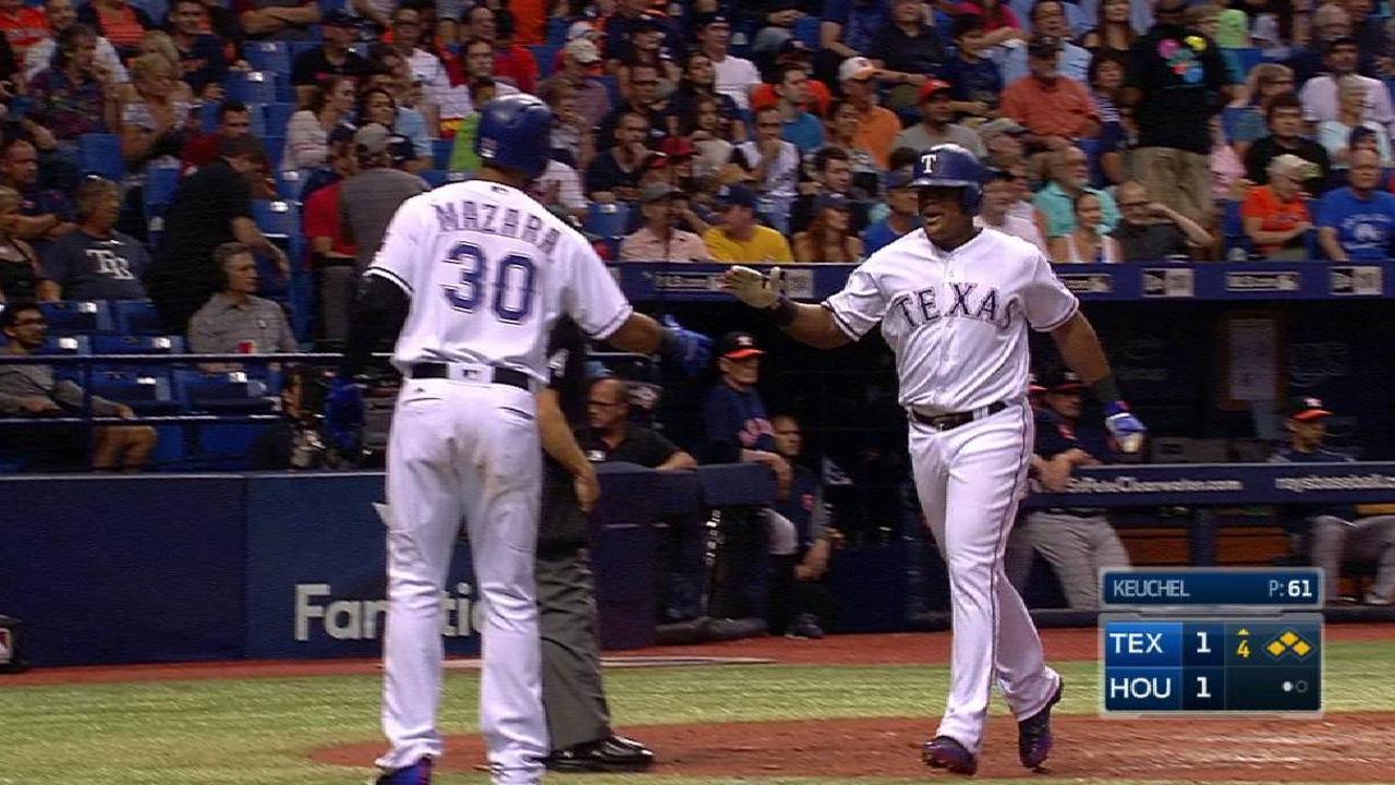 Rangers le caen a Keuchel y vuelven a vencer a Astros en el Tropicana