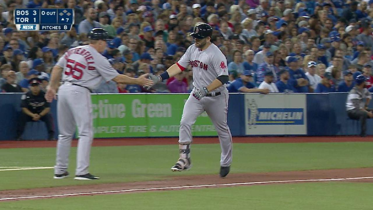 Red Sox break out late for Porcello, sweep Jays
