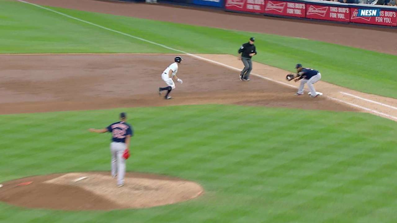 Rodriguez turns 1-3 double play
