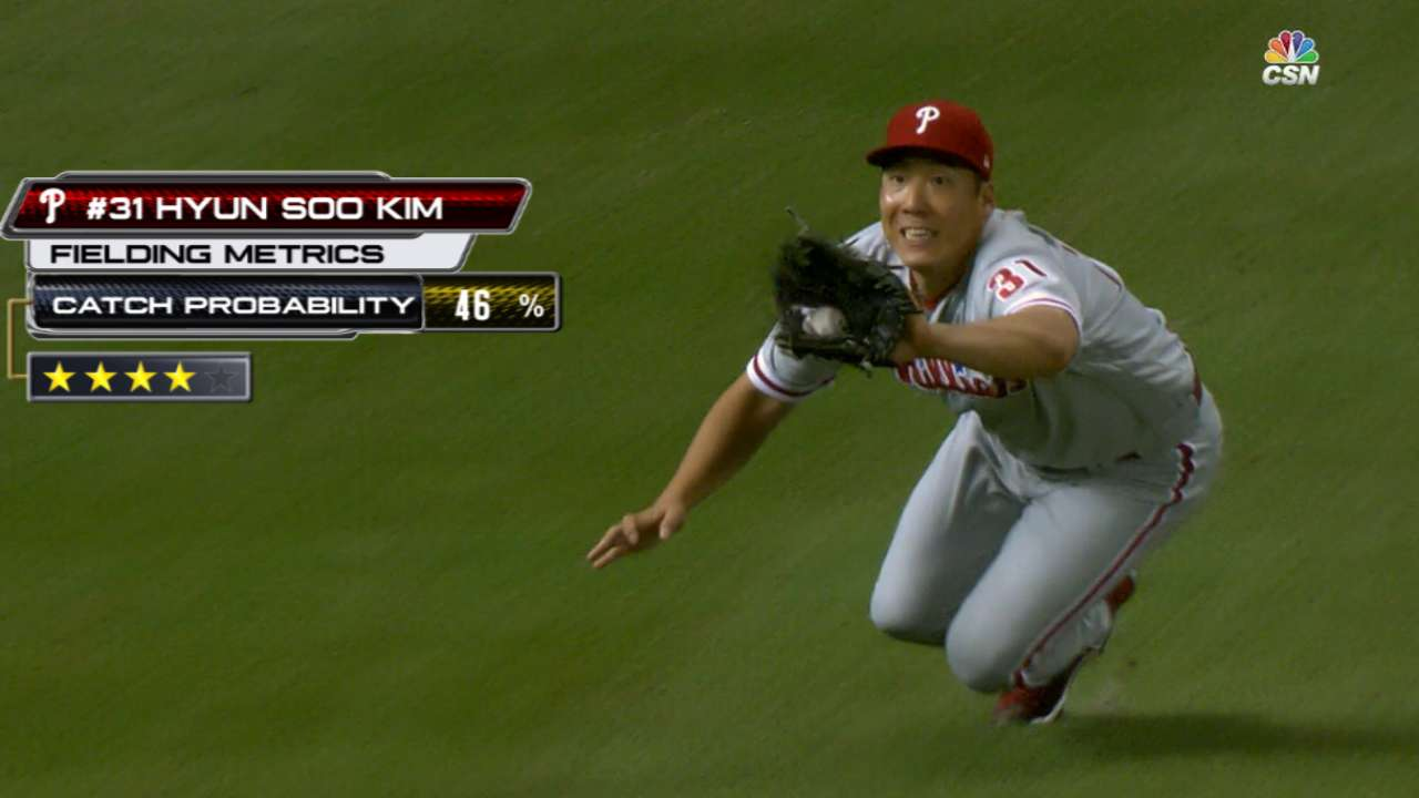 Statcast: Kim's diving catch