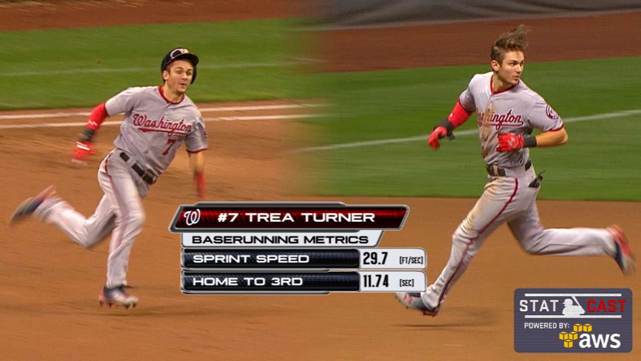 Statcast of the Day: Turner flashes fleet feet