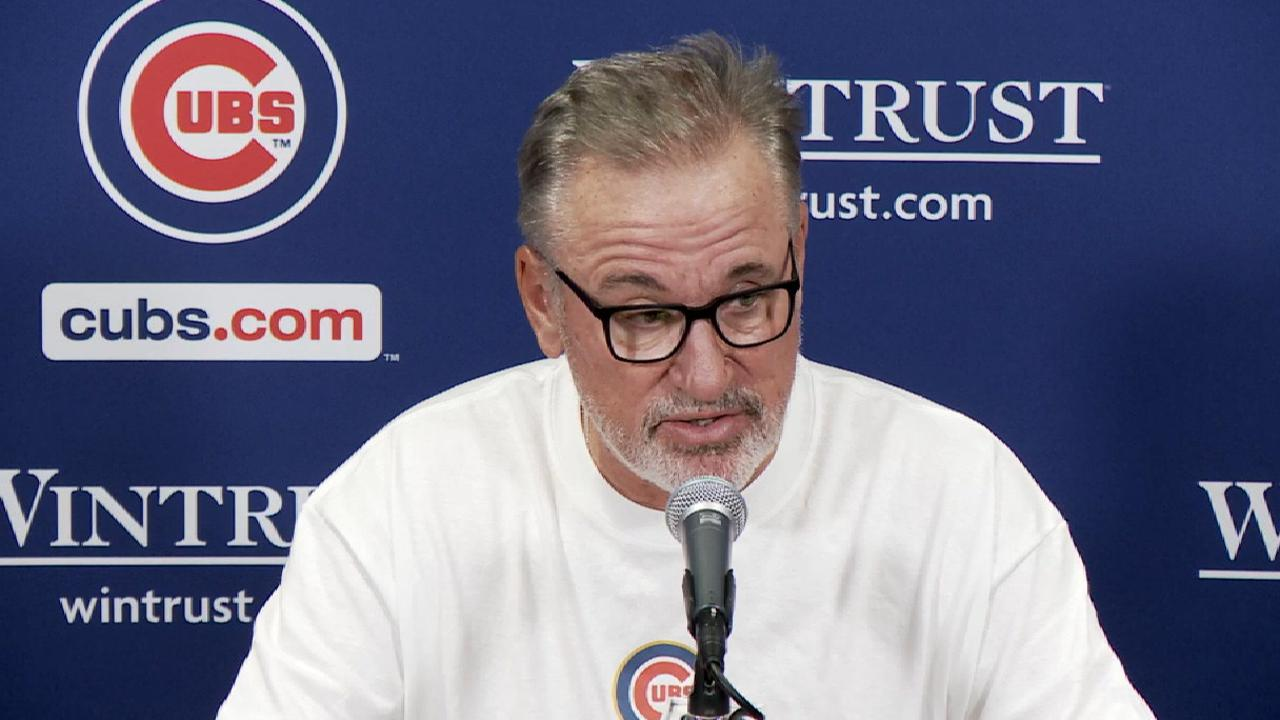 Maddon on Baez's run, win