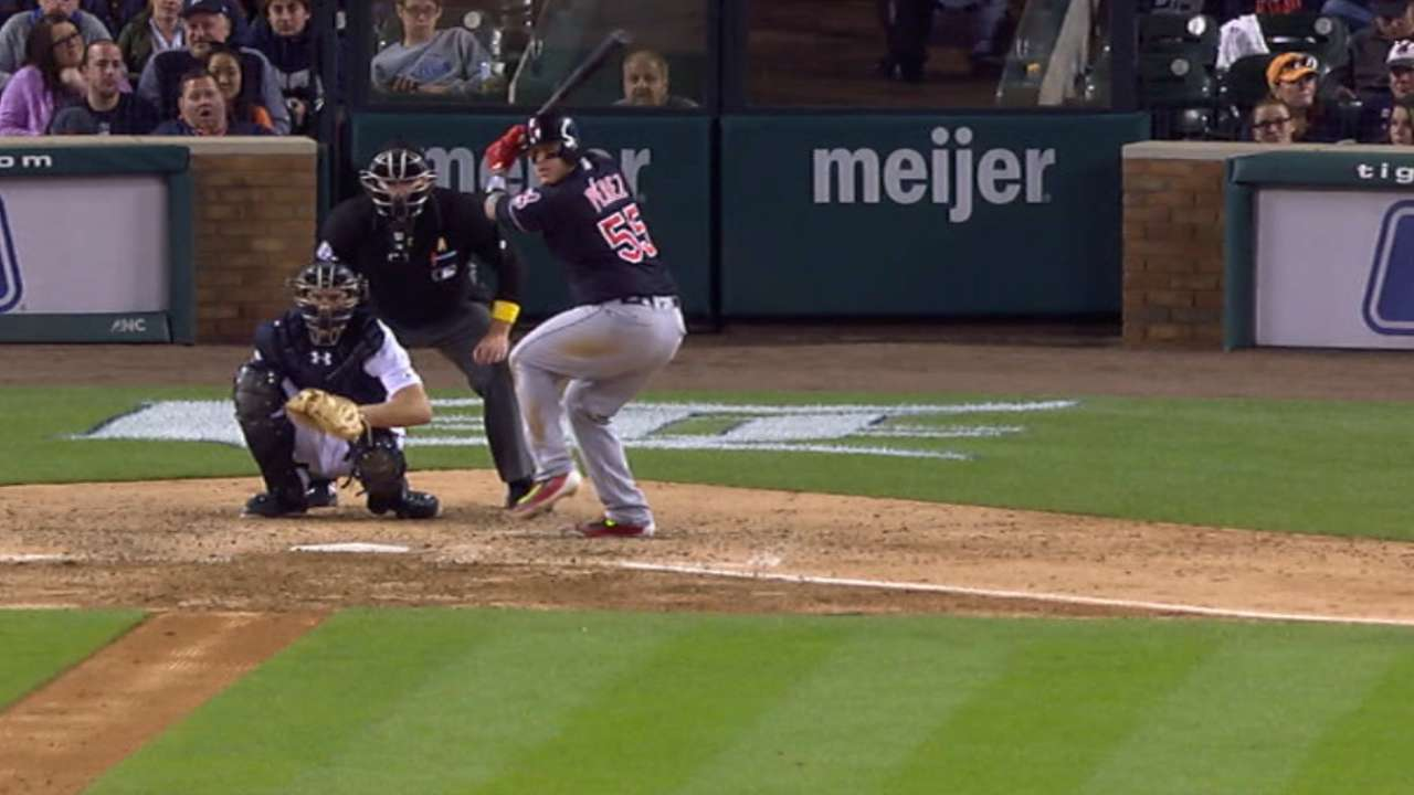 Indians' five-run 6th inning