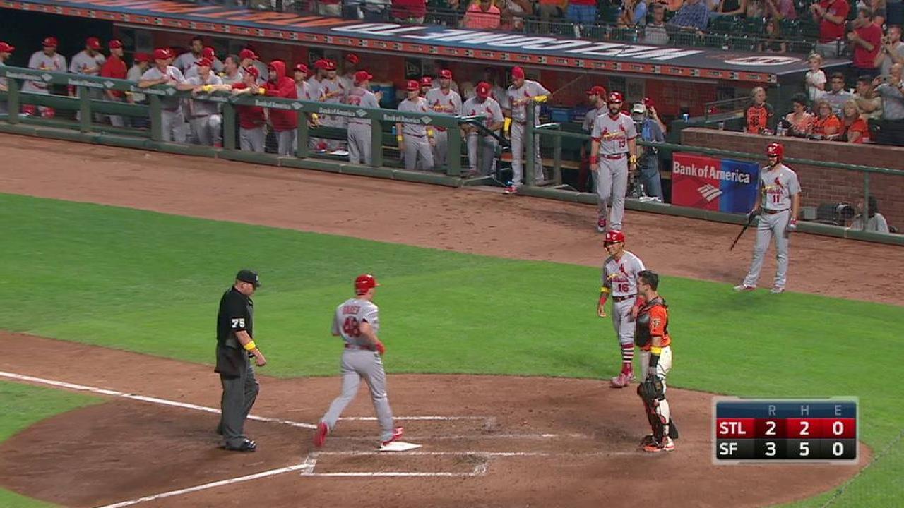 Bader's first MLB home run