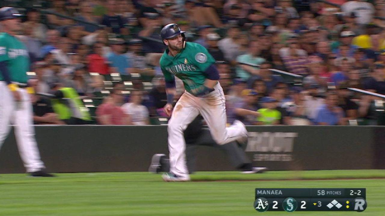 Seager drives in Haniger