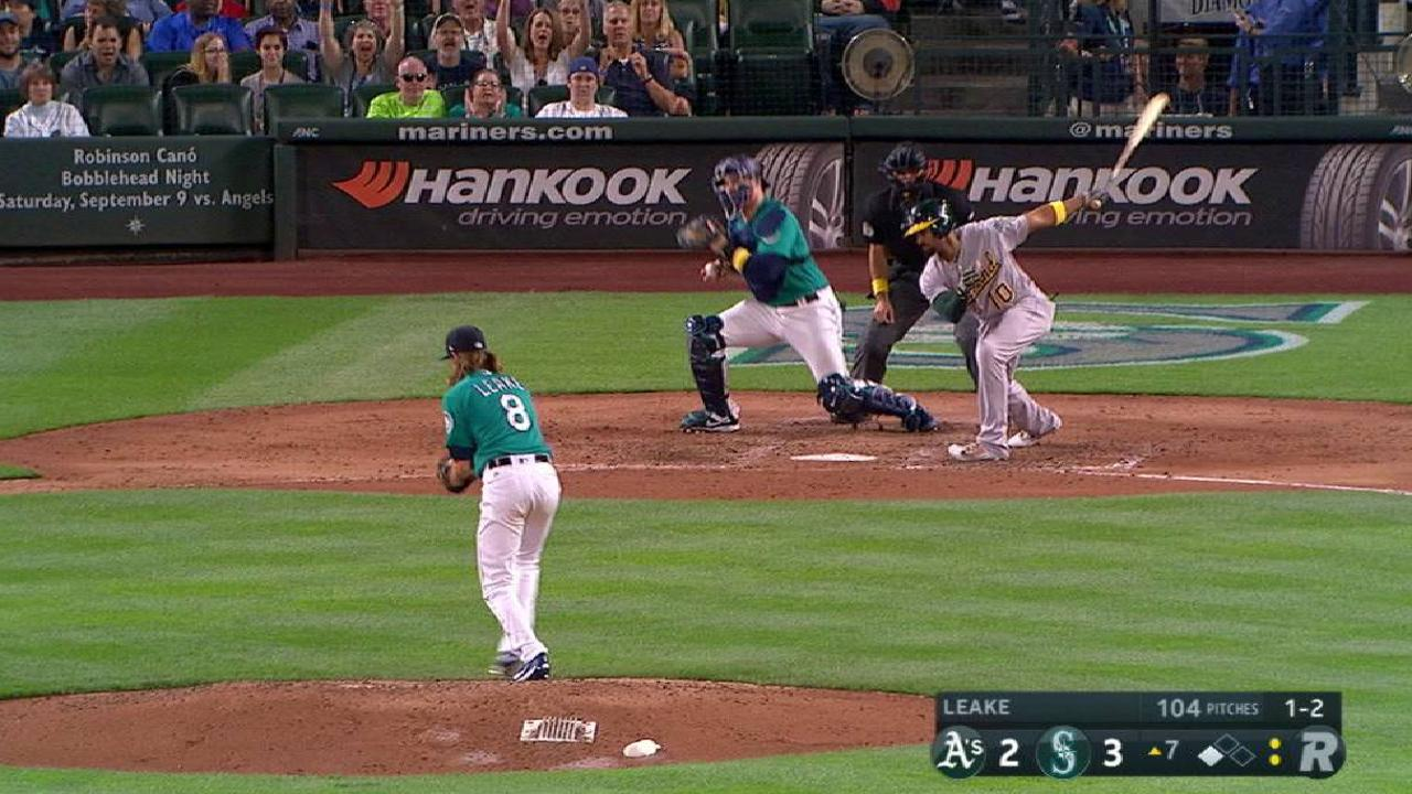 Leake strikes out Semien