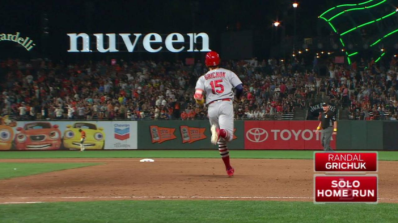 Grichuk's solo home run to left