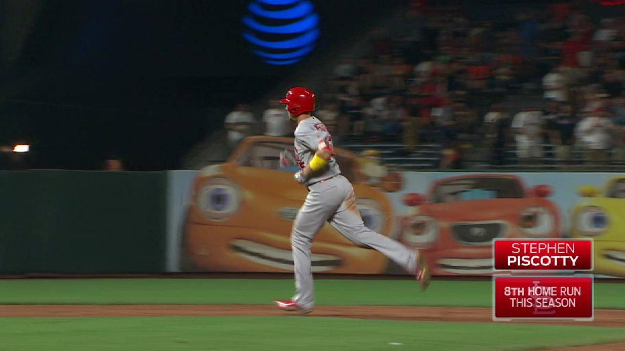 Piscotty's two-run homer