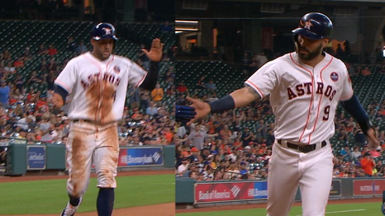 Astros cap impassioned return with G1 win