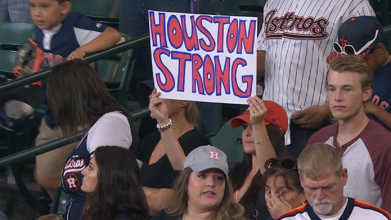 Astros return to Houston