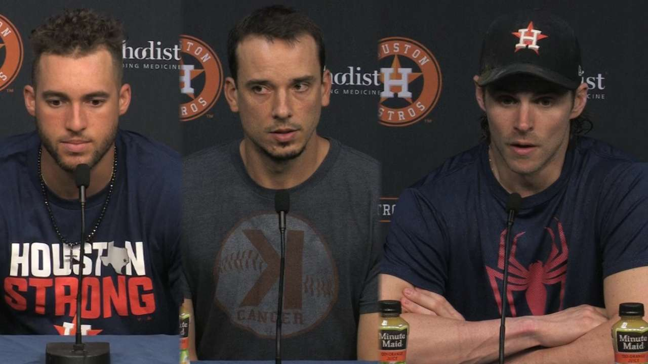 Astros on being back at home