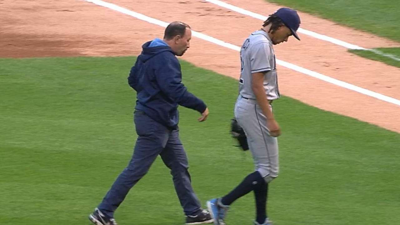 Archer exits with forearm injury