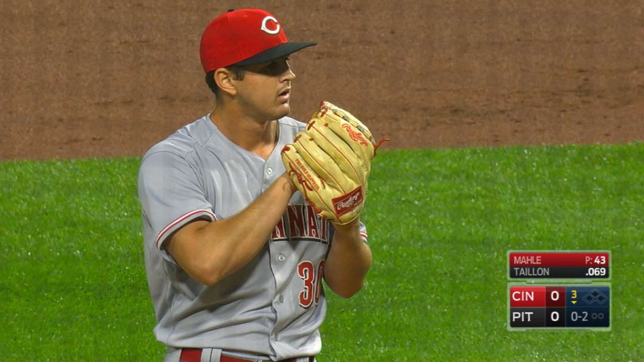 Reds impressed with Mahle's scoreless outing