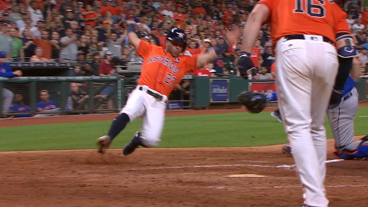 Astros vuelven a Houston y barren a los Mets en doble cartelera