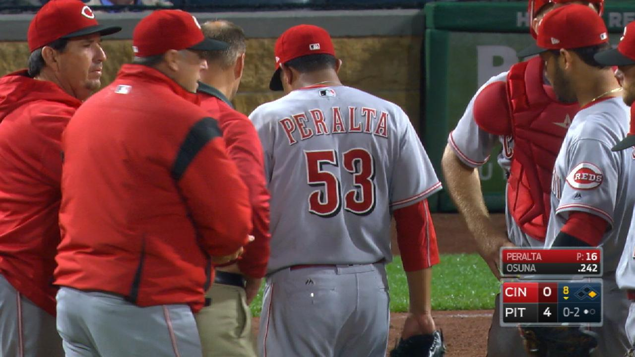 Peralta out Sunday, to be re-evaluated Monday