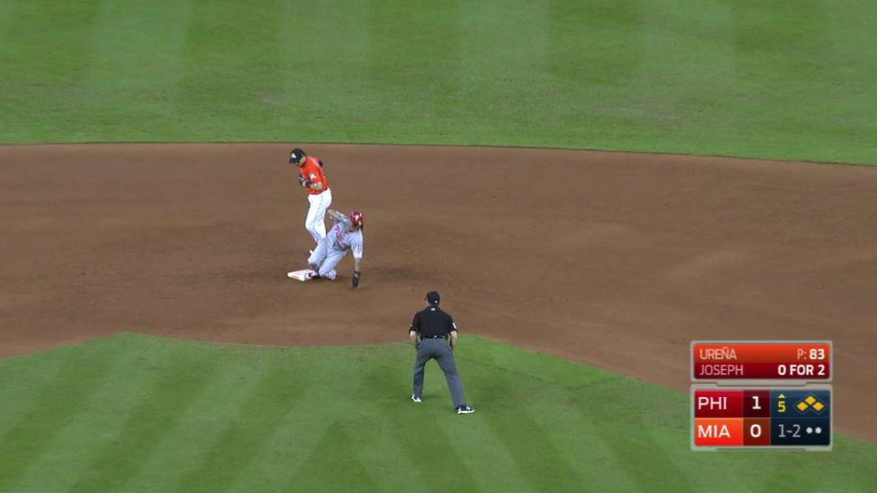 Urena escapes a jam in the 5th