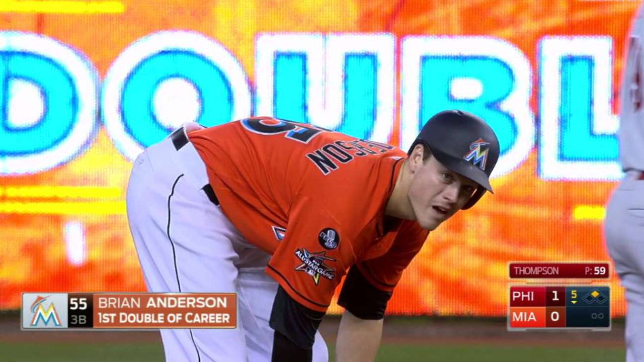 Anderson's first career double
