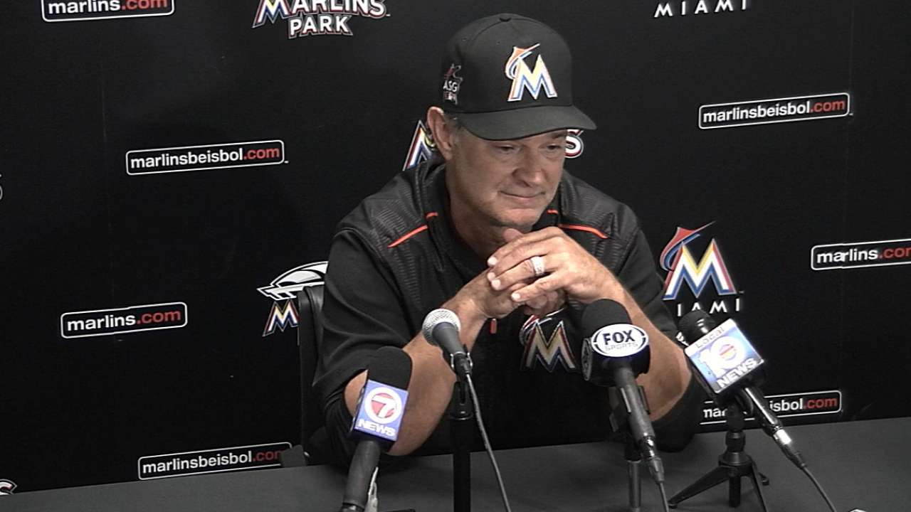 Mattingly on loss to Phillies