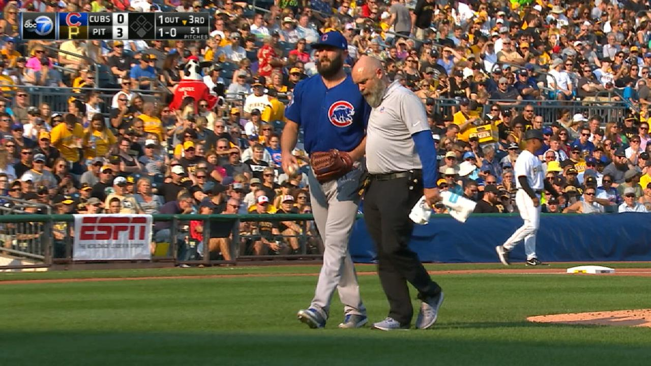 Arrieta reports just a cramp after early exit