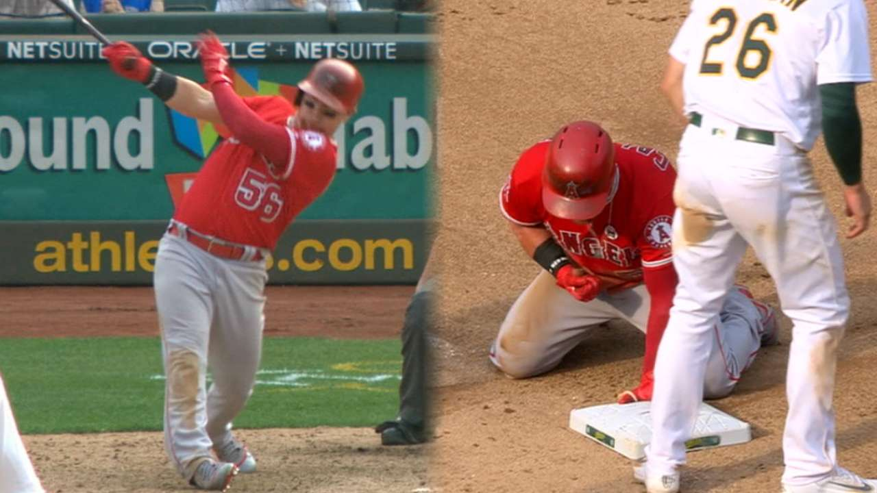 20 runs, 20 pitchers: Halos outlast A's in extras