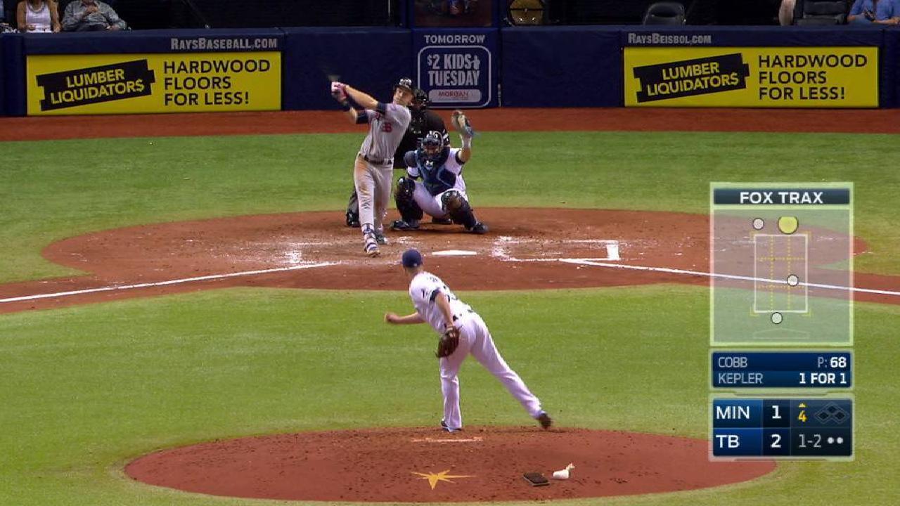 Cobb strikes out Kepler