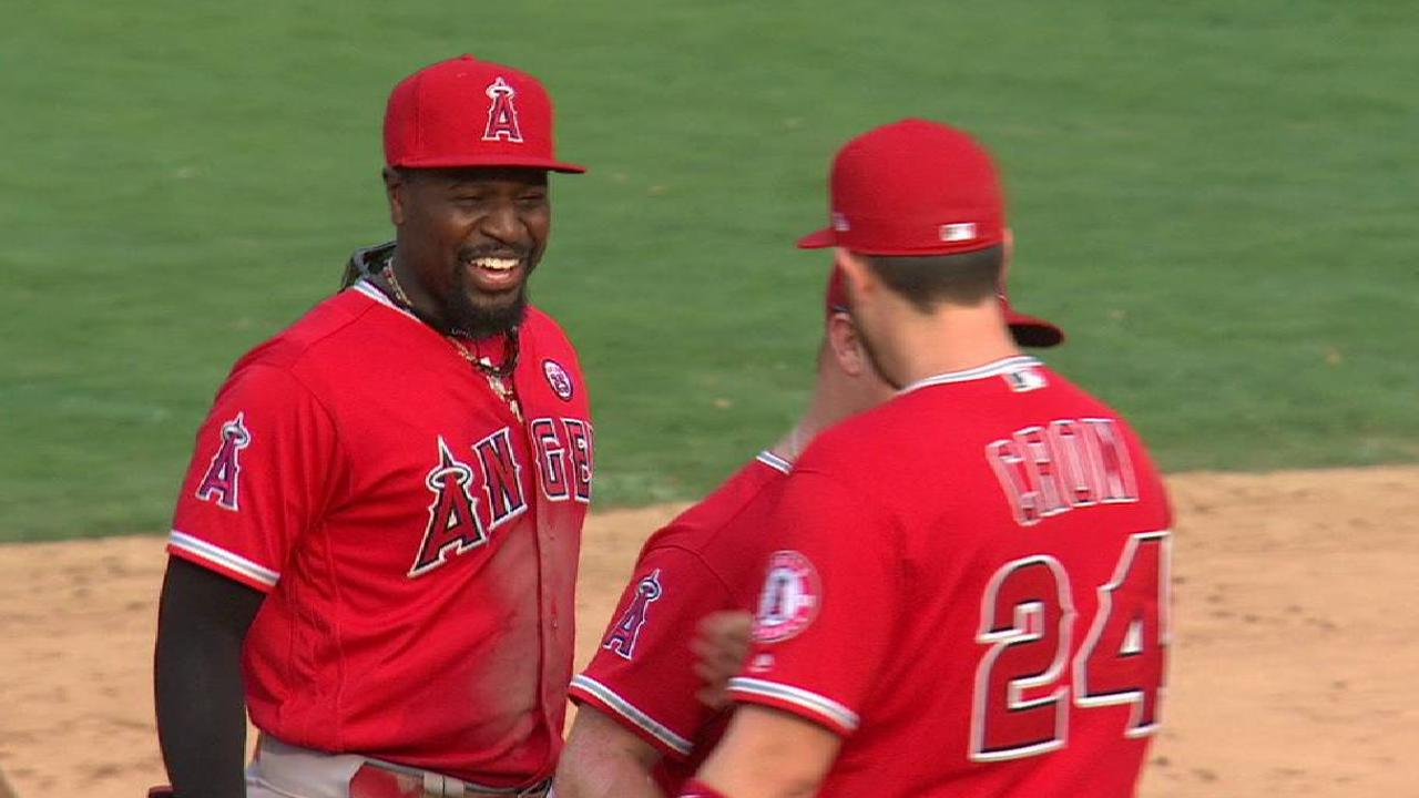 Angels turn a DP to secure win
