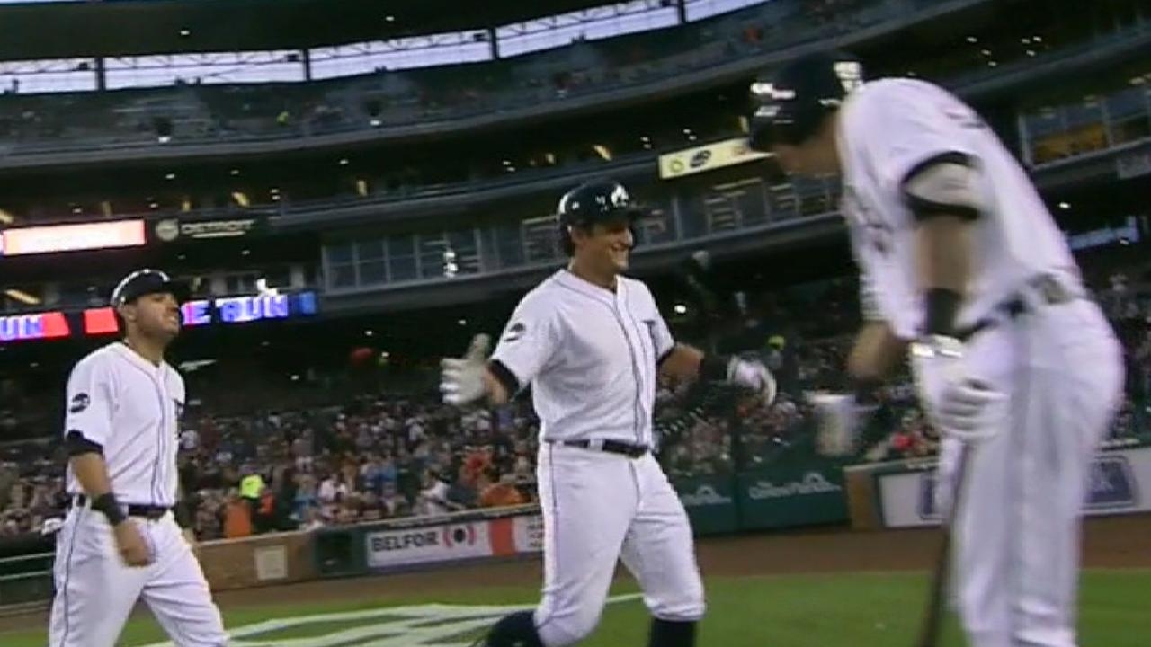 Tigers' seven-run 2nd inning