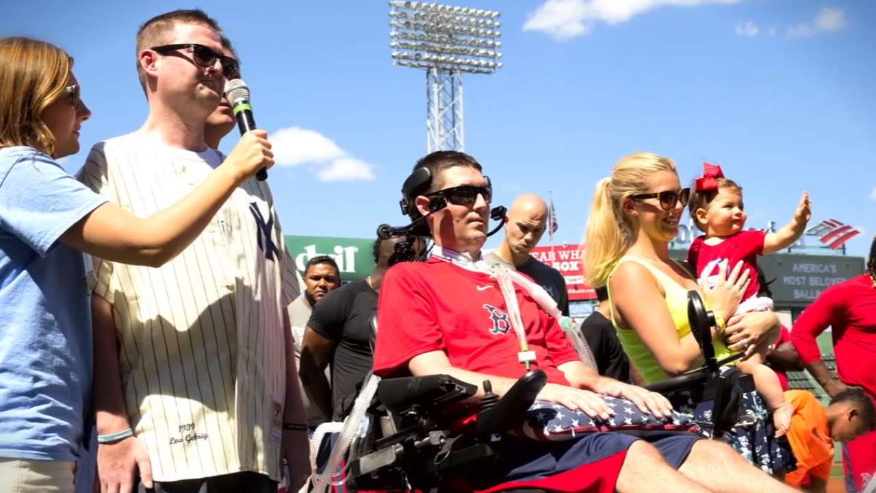 Boston honors ALS awareness champion Frates