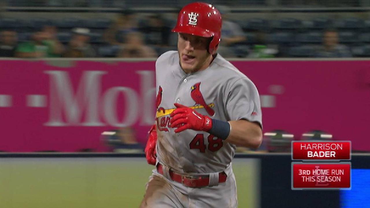 Bader's three-run home run