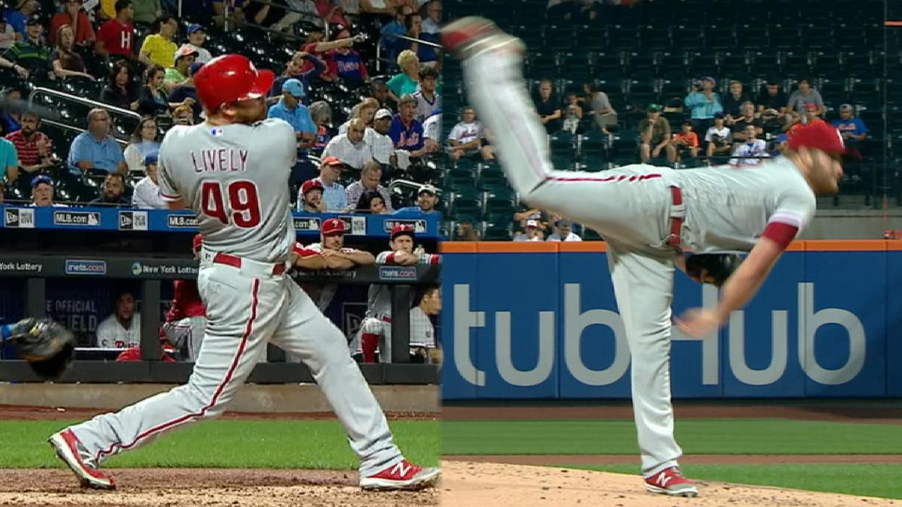 Lively homers to lead Phils in rout of Mets