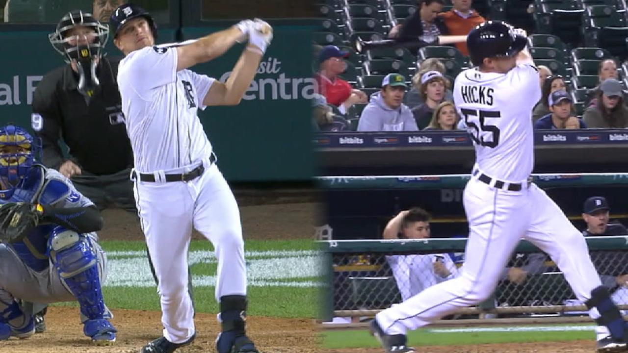 Hicks' solid night at the plate
