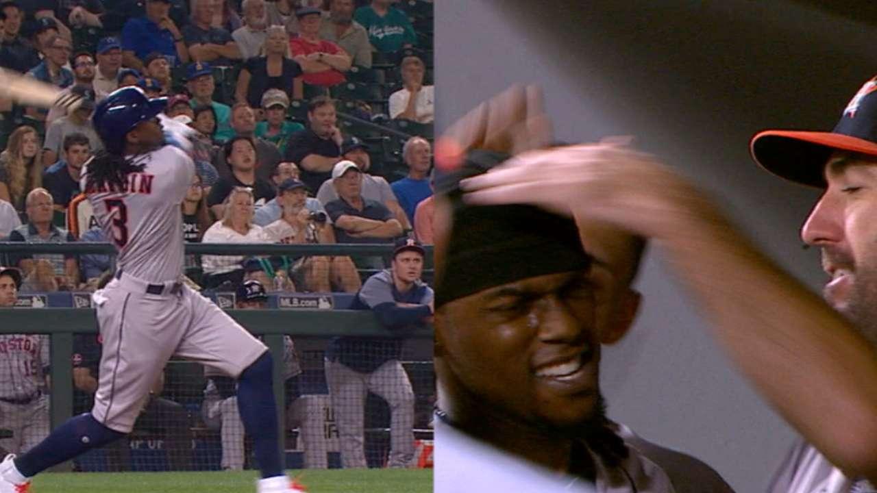 Verlander y Maybin lucieron en triunfo de los Astros